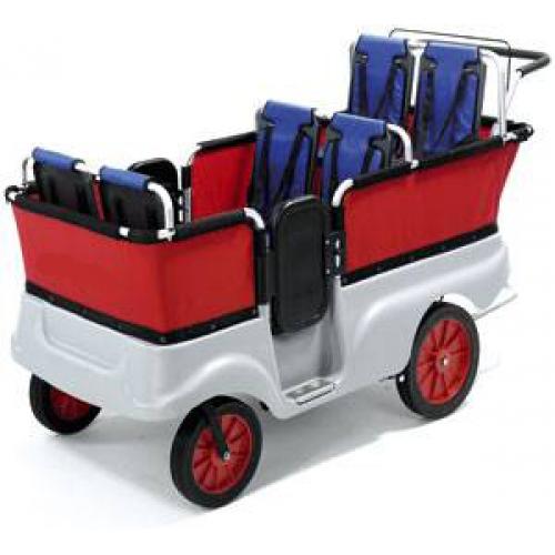 коляски для тройни и четверни.Современная коляска для шестерых детей